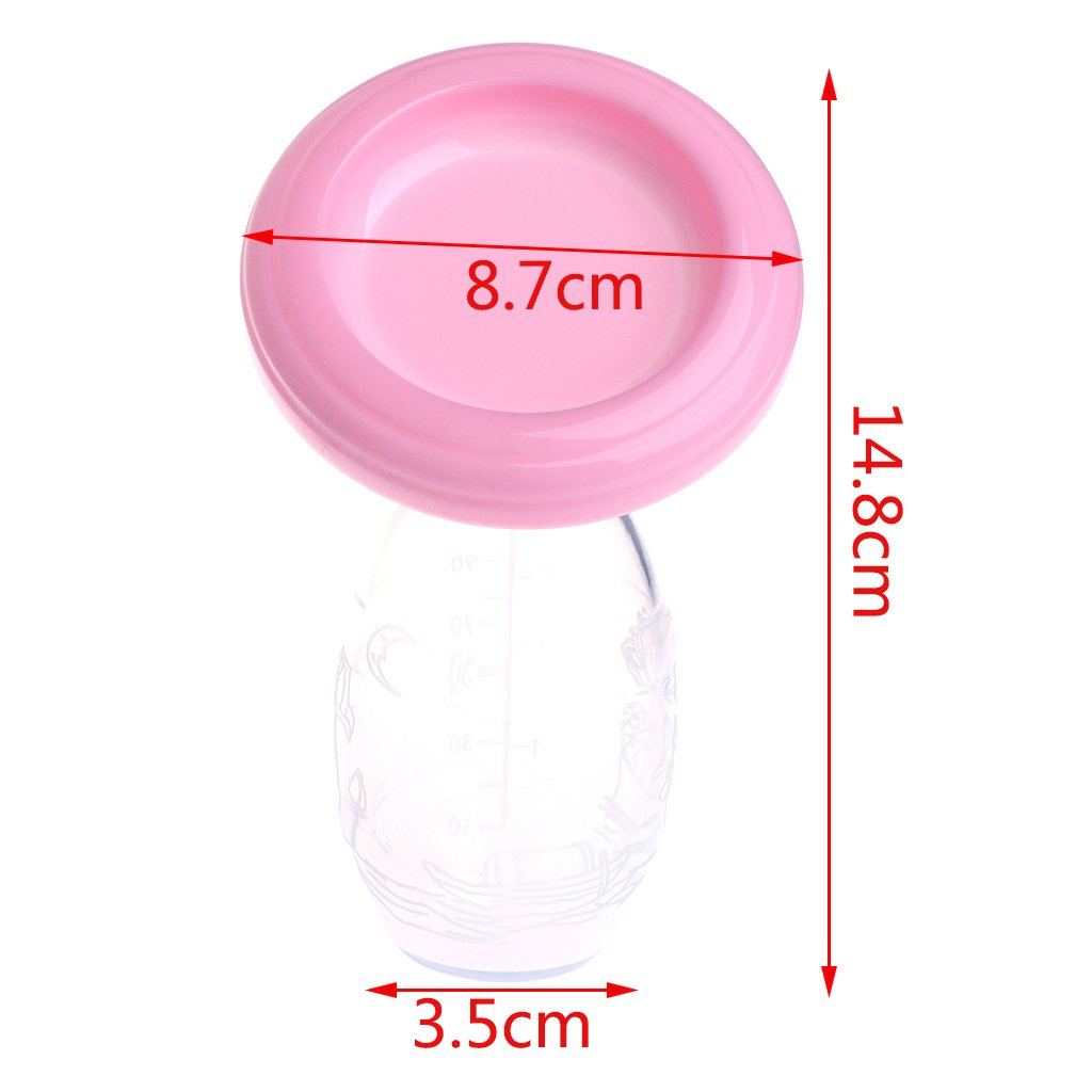 Kimnny Breast Pumps Manual Breast Pump Partner Breast Feeding Collector Breast Milk Silicone Pumps Pink