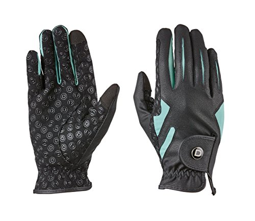 - Dublin Cool-It Gel Riding Glove Black/Teal Adults Small