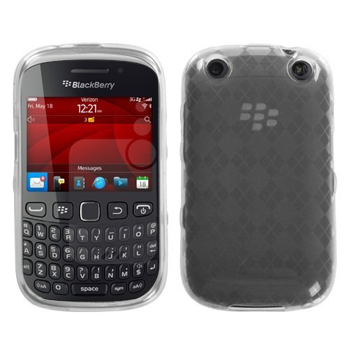 Asmyna BB9310CASKCA036 Argyle Slim and Durable Protective Cover for BlackBerry Pearl 3G 9100/9105 - 1 Pack - Retail Packaging - Clear - Pearl Blackberry Faceplates