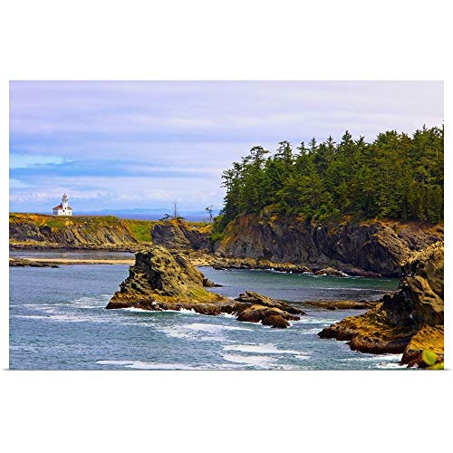 (GREATBIGCANVAS Poster Print Entitled Cape Arago Lighthouse at Shore Acres State Park at Coos Bay; Oregon, USA by Craig Tuttle 18