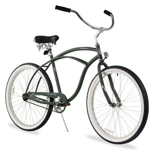(Firmstrong Urban Man Single Speed Beach Cruiser Bicycle, 26-Inch, Matte Army Green )