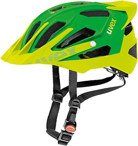 Uvex Quatro Pro Mpuntain Bike Helmet Matte Green/Lemon S/M (52-57cm) by Uvex