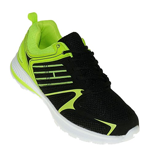 Bootsland Art 654 Neon Turnschuhe Schuhe Sneaker Sportschuhe Neu Herren
