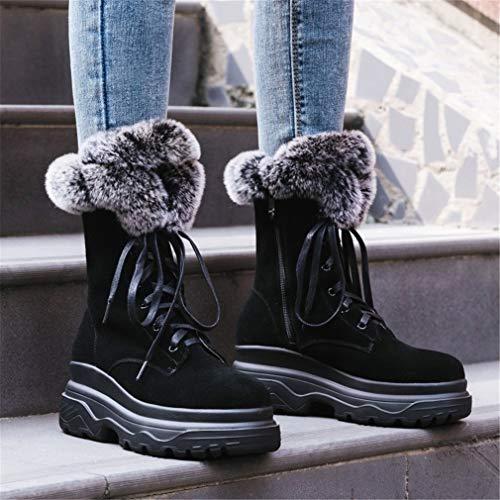 Gamuza La Engrosadas Martin Zapatos Cordones Cremallera Zapatillas Mujer Para Nieve Yan Invierno Botas De Ocasionales Con Segundo Caminar Moda xnFwHtq4