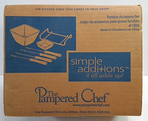 The Pampered Chef Simple Additions Fondue Accessory Set