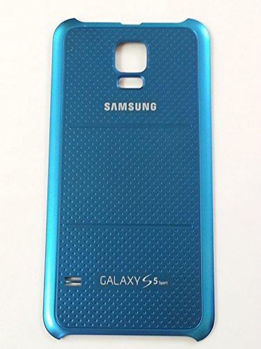 Original Sprint Samsung Galaxy S5 Sport SM-G860P Battery Door Back Cover (Blue) + 1 Screen Protector