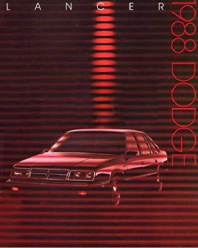 1988 Dodge Shelby (1988 DODGE LANCER, LANCER ES & SHELBY LANCER PRESTIGE VINTAGE COLOR SALES BROCHURE - USA - GREAT ORIGINAL !!)