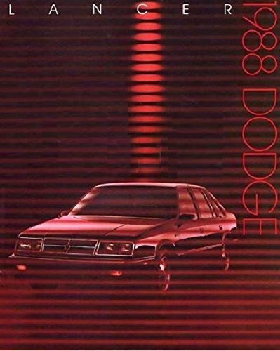 Dodge 1988 Shelby (1988 DODGE LANCER, LANCER ES & SHELBY LANCER PRESTIGE VINTAGE COLOR SALES BROCHURE - USA - GREAT ORIGINAL !!)