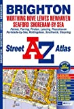 Front cover for the book A-Z Brighton and Worthing Street Atlas by Geographers' A-Z Map Company