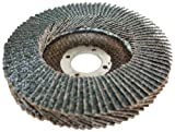 Sundisc 11113 Type 27 Super High Density Abrasive Super Flap Disc, X Weight Poly/Cotton Blend, Zirconia, 4-1/2