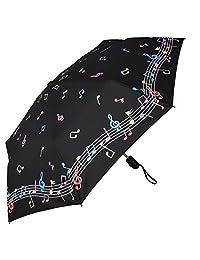 RainStoppers - Paraguas con Apertura y Cierre automático, Color cambiante, Color Negro/Blanco, 111,7 cm