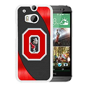 Popular Sell Design Ncaa Big Ten Conference Football Ohio State Buckeyes 14 White HTC ONE M8 Phone Cover Case