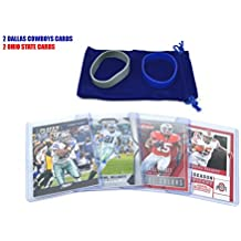 Ezekiel Elliott (2) Assorted Football Cards Bundle - Ohio State Buckeyes Trading Cards