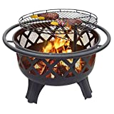 "Cheap Catalina Creations 29.5"" Crossfire Fire Pit with Quick Removable Cooking Grill"