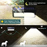 Luposwiten Solar Lights Outdoor, 100 LED Waterproof Solar Powered Motion Sensor Security Light, Solar Fence Wall Lights for Patio, Deck, Yard, Garden