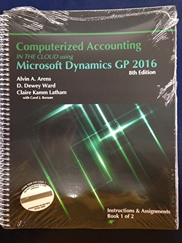Computerized Accounting in the Cloud Using Microsoft Dynamics-GP 2015