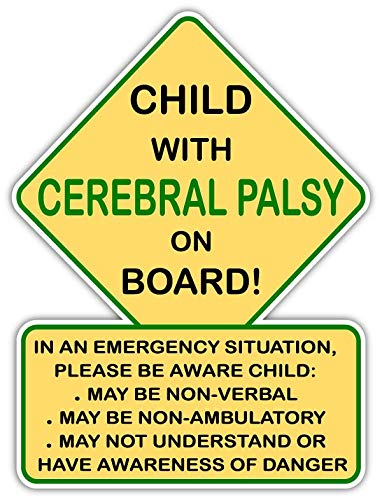 Child with Cerebral Palsy On Board! Car Truck