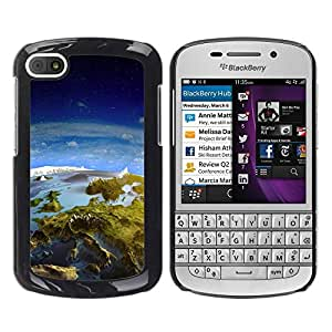 Paccase / SLIM PC / Aliminium Casa Carcasa Funda Case Cover para - Space Planet Galaxy Stars 31 - BlackBerry Q10