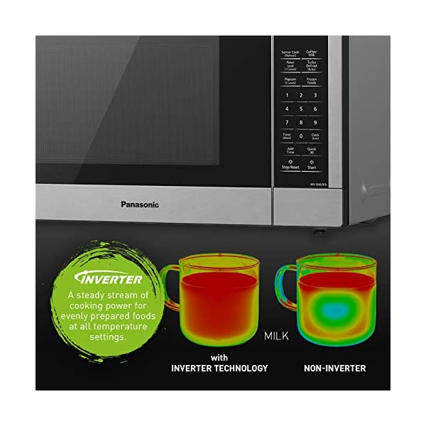 Panasonic Compact Microwave Oven with 1200 Watts of Cooking Power, Sensor Cooking, Popcorn Button, Quick 30sec and Turbo… 4