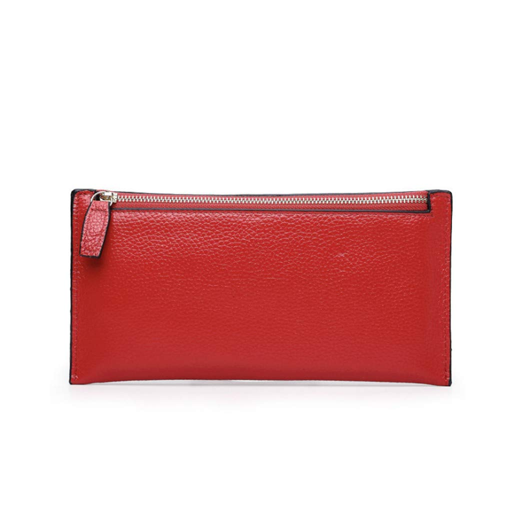 Women Genuine Soft Leather Slim Wallet Female ID Card Holder Clutch Long Leather Purse Wallets