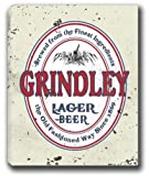 "GRINDLEY Lager Beer Stretched Canvas Sign 24"" x 30"""