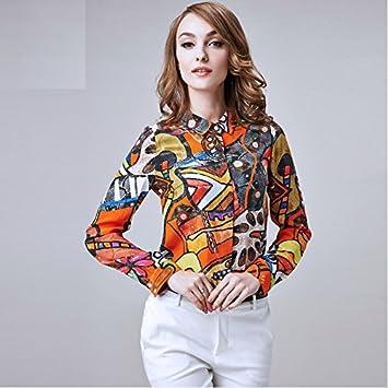 Mayihang Blusa Camisa La mujer vestido de seda con manga larga blusas de seda,Color