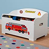 DIBSIES Personalization Station Personalized Dibsies Modern Expressions Toy Box - White (Firetruck)
