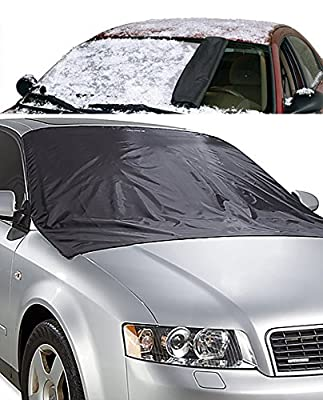 CarWorks Ultra Portable Heavy Duty Windshield Protector For Snow, Rain, And Harmful UV Rays From The Sun - Double Sided -
