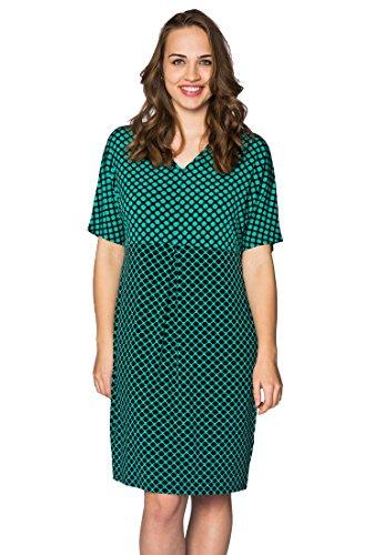 Yoek Damen Große Größen Kleid mit Druck Schwarz / Weiß QySo03aMB ...