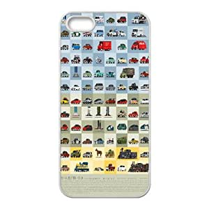 IPhone 5,5S Case 88 MILES per HOUR, Case for Iphone 5S - [White] Dustin