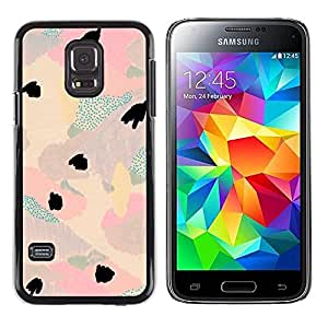 Paccase / SLIM PC / Aliminium Casa Carcasa Funda Case Cover para - Abstract Floral Light Teal Pink Purple Petal - Samsung Galaxy S5 Mini, SM-G800, NOT S5 REGULAR!