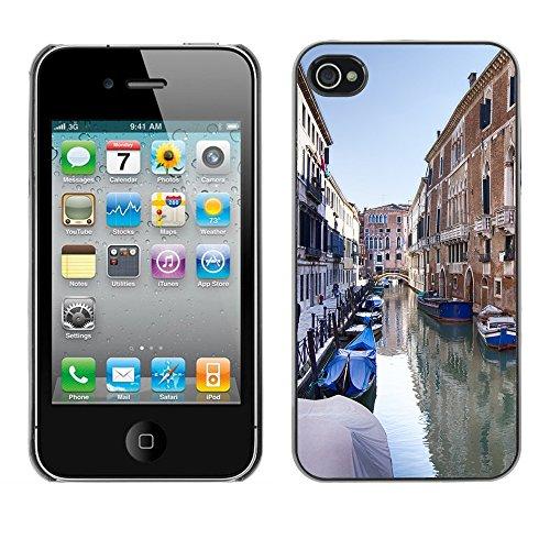 Premio Sottile Slim Cassa Custodia Case Cover Shell // F00016135 Venise // Apple iPhone 4 4S 4G
