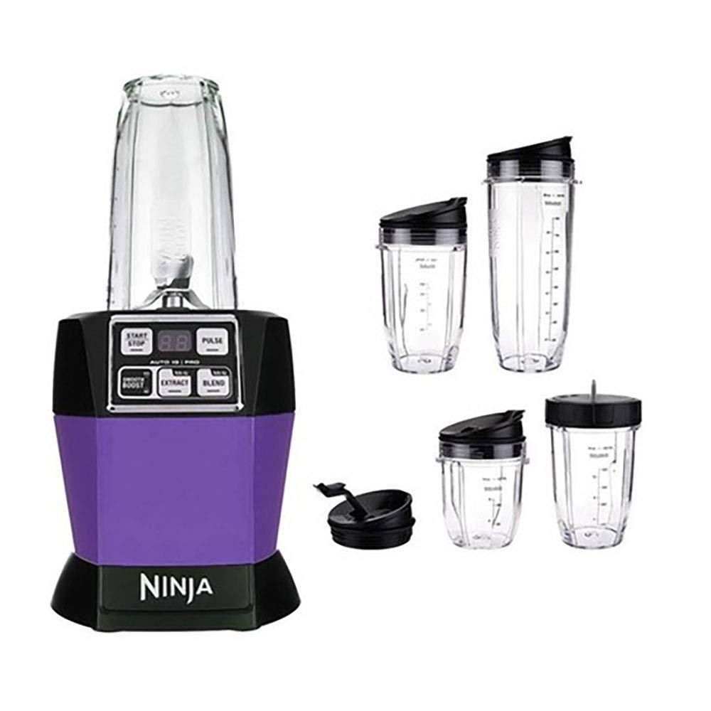 Nutri Ninja Auto iQ Pro Complete Blender, Purple (Certified Refurbished)