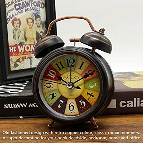 Amazon.com: Vintage Alarm Clock, Silent Desk Alarm Clocks ...