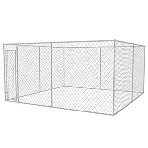 vidaXL Outdoor Dog Kennel 4x4x2m Puppy Pet Enclosure Playpen House Fence Cage Click on image for further info.