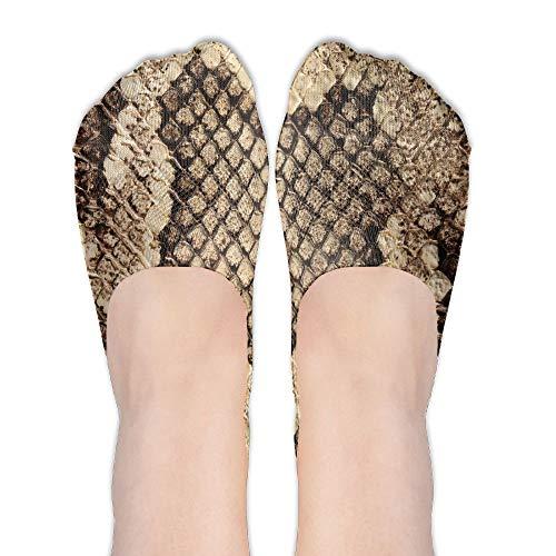 PangYuen Snake Skin Women's Polyester Cotton Socks Ladies Boat Socks Deodorant Boat Socks Thin Section Casual Socks Low Breast Socks