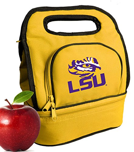 Broad Bay LSU Tigers Lunch Bag Cooler Two Section LSU Lunchboxes