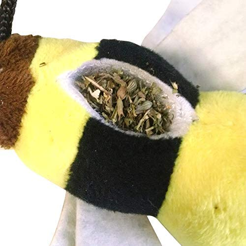 Meowijuana Get Buzzed Refillable Catnip Bee Toy and Teaser 4