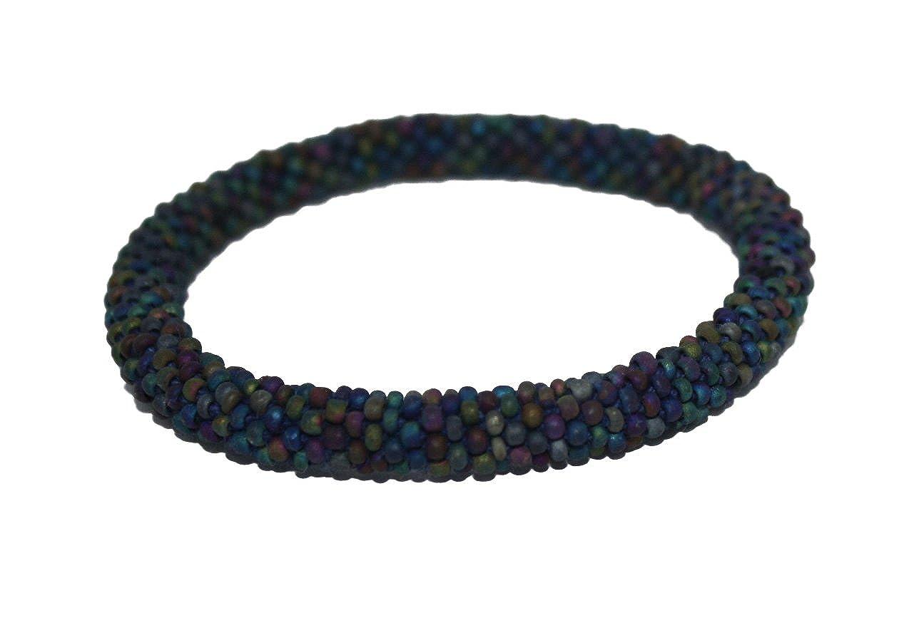 goldenlines Matte Color Crochet Glass Seed Bead Bracelet Roll on ...