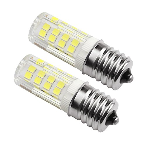 Ceramic E17 LED Bulb for Microwave Oven Appliance, 4W (40W Halogen Bulb Equivalent), Daylight White 6000K,( Pack of 2)