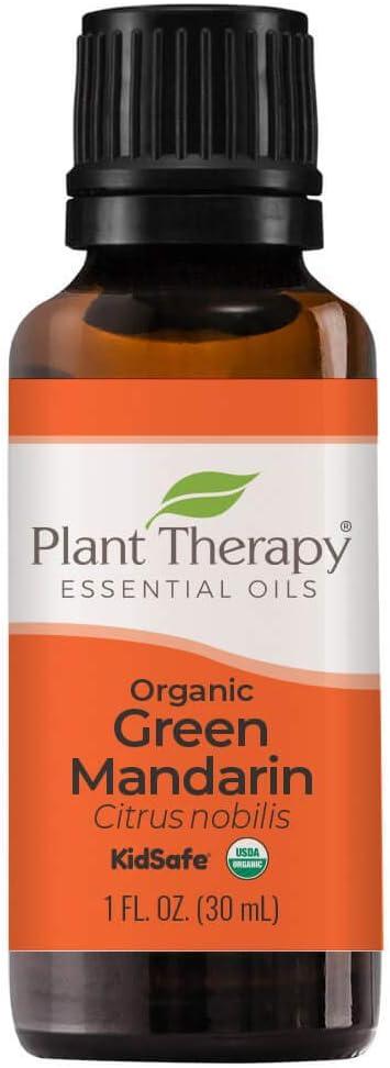 Plant Therapy Organic Green Mandarin Essential Oil 30 mL (1 oz) 100% Pure, Undiluted, Therapeutic Grade