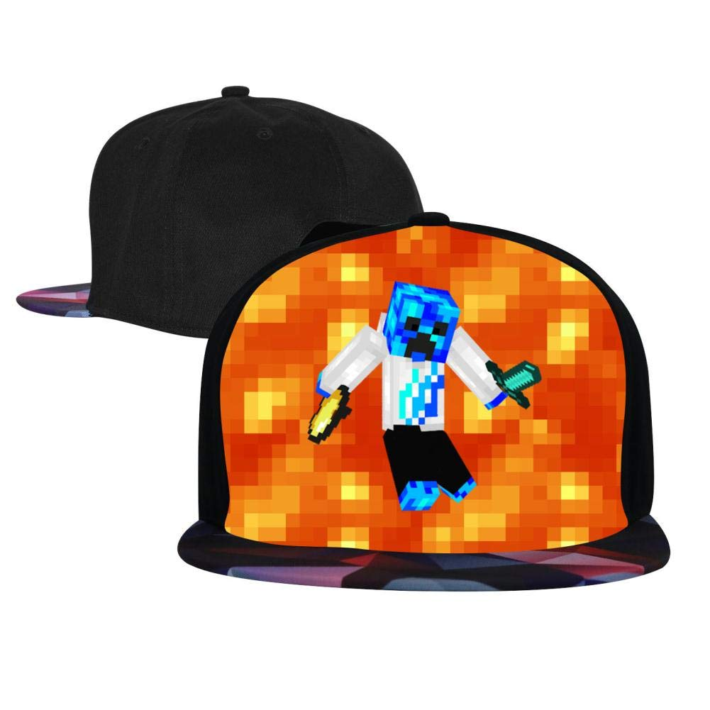 BEKAI Unisex Blue Prestonplayz Adjustable Brimbill Flats Hat for Mens//Womens Hip Hop Caps