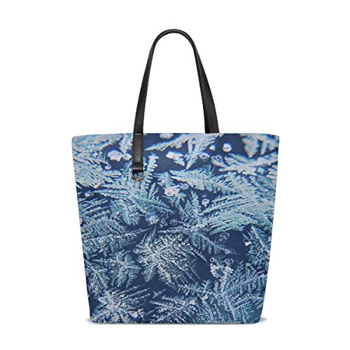 Women Frost Winter Nature The Poland Handle Satchel Handbags Shoulder Bag Tote Purse Messenger Bags