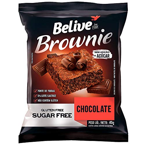 Brownie Chocolate Zero Açúcar sem Glúten sem Lactose Belive 40g