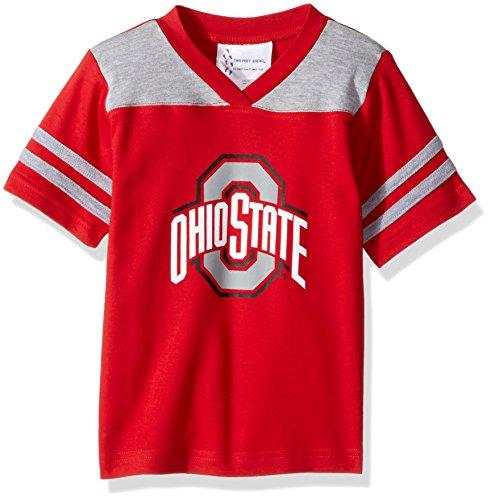 NCAA Ohio State Buckeyes Toddler Boys Football Shirt, Red, 3