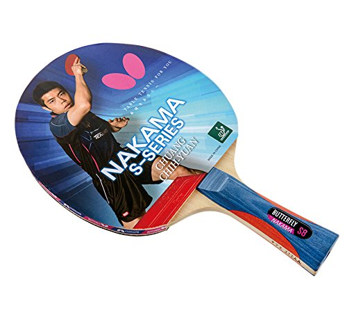 Butterfly Nakama S8 All Wood Blade-Flextra 1.9 Rubbers Table Tennis Racket by Butterfly