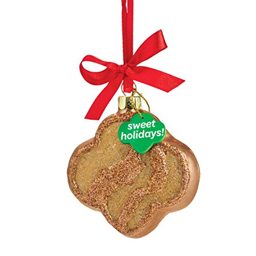 Girl Cookie Gift - Department 56 4053400 Girl Scouts of America Trefoil Cookie Hanging Ornament, 3.5 inch