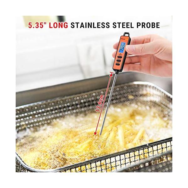 ThermoPro TP01S Termometro da Cucina Lettura Istantanea con Sonda Lunga Termometro Carne Digitale per Cottura Alimenti… 4