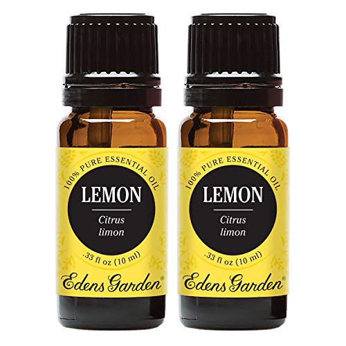 Edens Garden Lemon Essential Oil, 100% Pure Therapeutic Grade (Highest Quality Aromatherapy Oils- Cold Flu & Weight Loss), 10 ml Value Pack