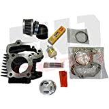 Top End Cylinder Rebuild Kit - Yamaha YFM 80 Raptor Grizzly Badger - Complete with new Cylinder, Piston, Rings, Gaskets and Filters [4449-A2]